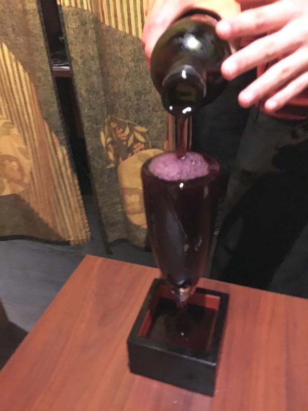 こぼしマスワイン(赤)。