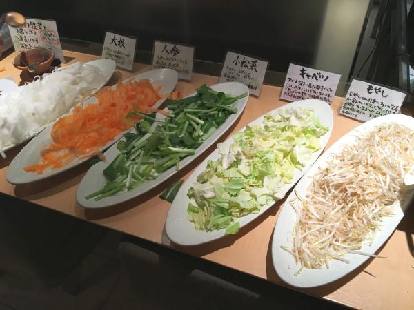 野菜のしゃぶしゃぶ。