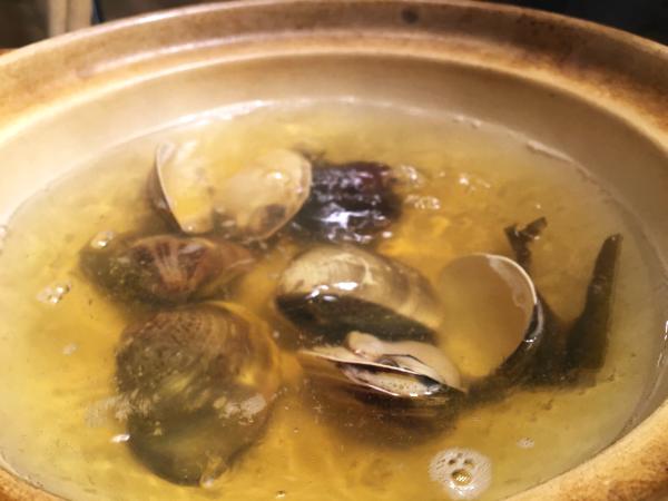 貝が開いたら食べごろ。