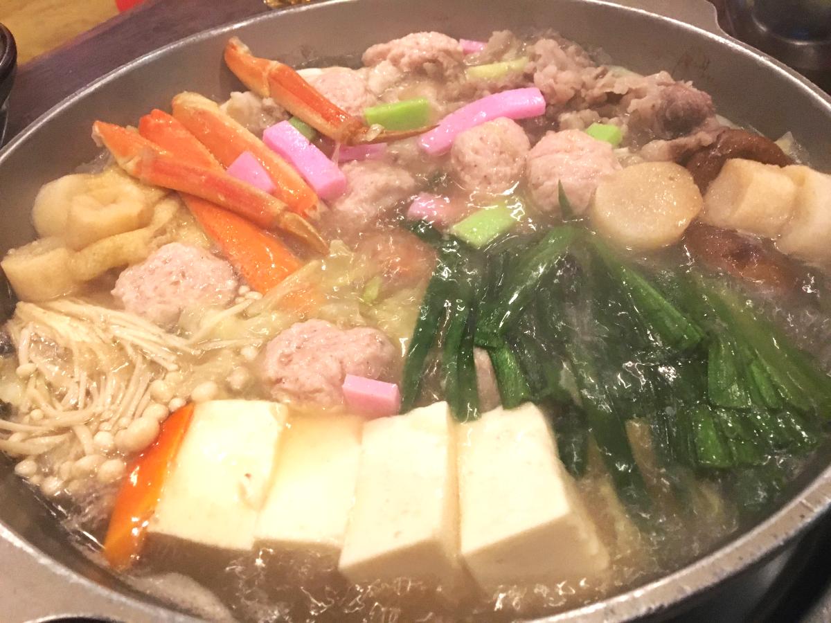 ちゃんこ鍋・塩味。良い感じの煮込まれ具合。
