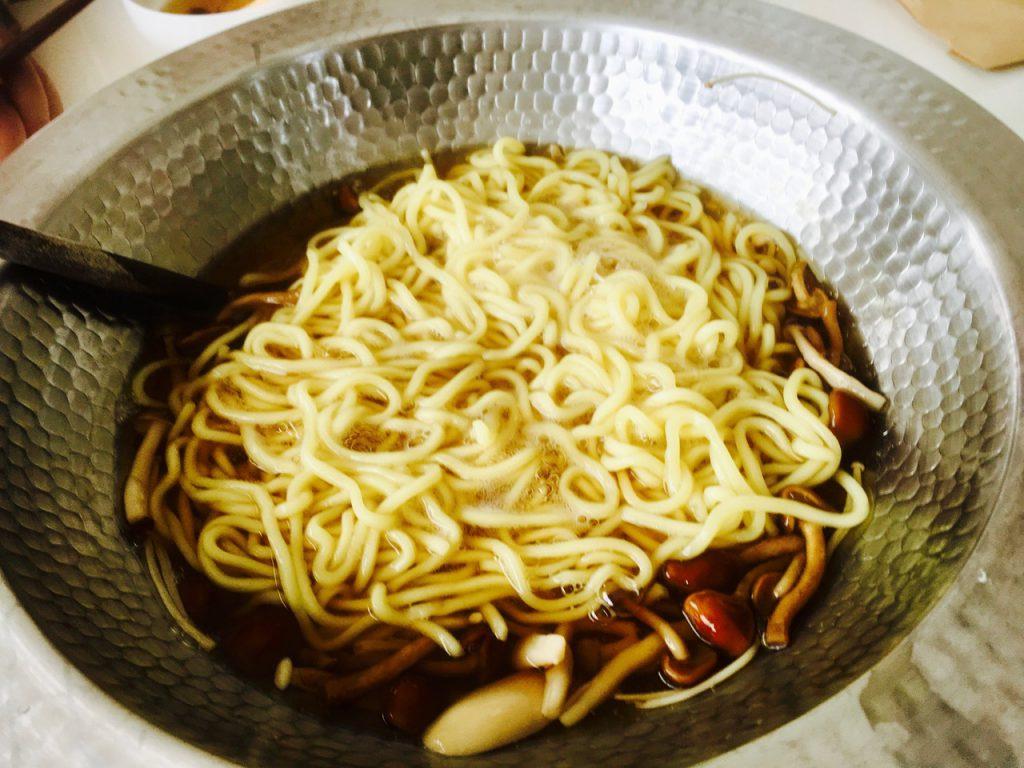 意外と合った、中華麺の〆